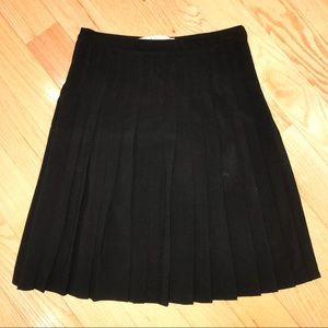 Max Studio Pleated Black Skirt